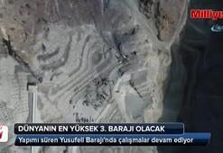 Yusufeli Barajında çalışmalar devam ediyor