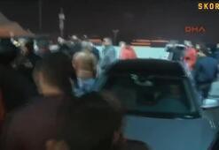 Maç sonu G.Saray taraftarından yönetime protesto