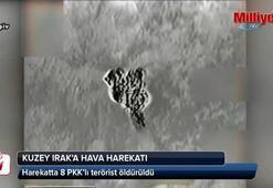 Kuzey Irak'a hava harekatı: 8 terörist öldürüldü