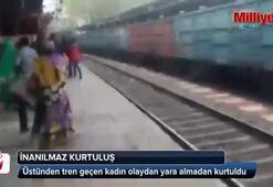 Üstünden tren geçen kadının inanılmaz kurtuluşu