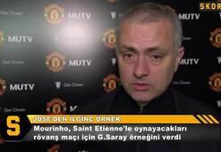 Mourinhodan rövanş için Galatasaray örneği