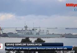 NATO savaş gemileri Samsun'da