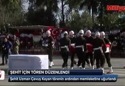 Şehit Uzman Çavuş Kayan için Adanada tören düzenlendi