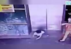 Attığı tekmeyle kızının hayatını kurtardı