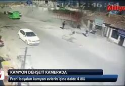 Freni boşalan kamyon dehşet saçtı: 4 ölü