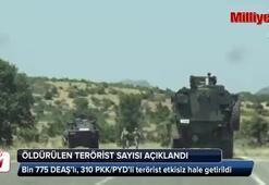 İşte Fırat Kalkanı'nda etkisiz hale getirilen terörist sayısı