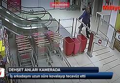 Süpermarkette yönetici çalışana tecavüz etti