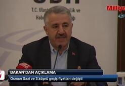 Osman Gazi ve 3.köprü geçiş fiyatları değişti