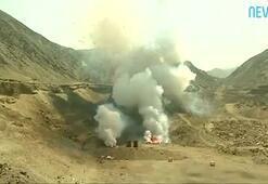 Bir ton kaçak havai fişek patlatıldı