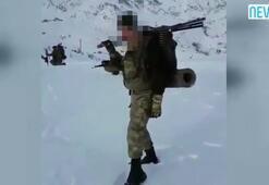 Hakkaride görev yapan askerler ilginç bir video paylaştı