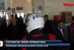 Polis terör operasyonu yaptı, vatandaş alkışlarla destek verdi