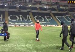 Chornomorets Stadyum buz tuttu