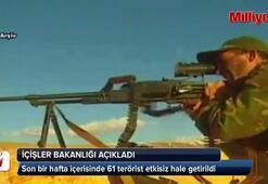 61 terörist etkisiz hale getirildi