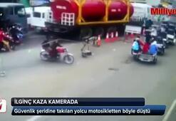 İlginç kaza kamerada