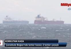 Çanakkale Boğazında tanker kazası