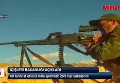 49 terörist etkisiz hale getirildi: 269 kişi yakalandı