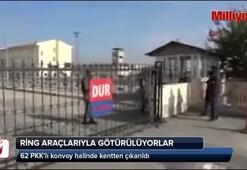 62 PKKlı konvoy halinde kentten çıkarıldı