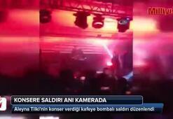Aleyna Tilki konserine saldırı anı kamerada