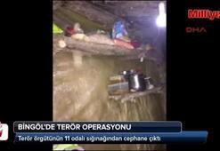 Terör örgütünün 11 odalı sığınağından cephane çıktı