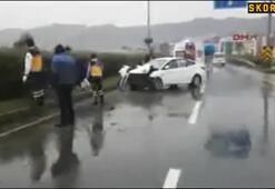 Çaykur Rizesporlu Kweuke trafik kazası geçirdi