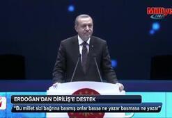Erdoğandan Diriliş Ertuğrul'a destek