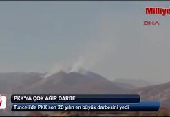 Tuncelide PKK son 20 yılın en büyük darbesini yedi