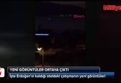 Cumhurbaşkanı Erdoğanın kaldığı oteldeki çatışmanın yeni görüntüleri