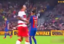 Neymar ve Ruben Vezo tünelde kapıştılar...