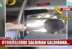 Otobüs şoförü yolcuya bıçak çekti