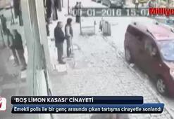 Boş limon kasası cinayeti kamerada