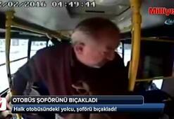 Yolcu şoförü bıçakladı