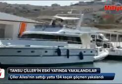 Çiller Ailesinin sattığı yatta 134 kaçak göçmen yakalandı