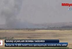 13 IŞİD hedefi havadan vuruldu