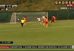 Derbide ilk gol Beşiktaştan geldi
