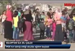 Silopide PKK'nın tahrip ettiği okulda eğitim başladı