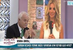 Esra Erolun, Nihat Hatipoğluna kurban sorusu