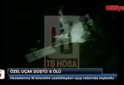Makedonyada özel uçak düştü: 6 ölü