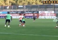 Kerim Freiden antrenmanda çok şık gol
