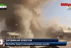 Muhalifler Esad'ın karargahını havaya uçurdu