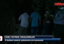 Darbeci askerler canlı yayında yakalandı