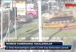 Darbe girişimi sırasında MOBESE kameralarına yansıyan zırhlı araçlar