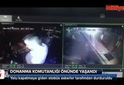 Darbe girişimi gecesi Donanma Komutanlığı önünde yaşananlar kamerada