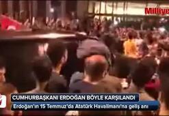 Cumhurbaşkanı Erdoğan o gece Atatürk Havalimanında böyle karşılandı