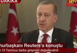 Cumhurbaşkanı Erdoğan Reuterse konuştu
