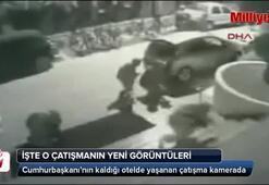 Cumhurbaşkanı Erdoğanın kaldığı otelde yaşanan çatışmanın yeni görüntüleri ortaya çıktı
