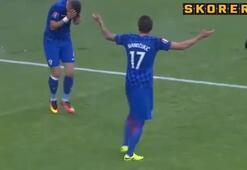 Hırvatistan maçında şok Yüzünde patladı...