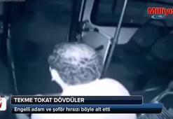 Engelli adam ve şoför hırsızı böyle alt etti
