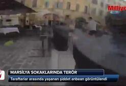 Rus holigan, Marsilya sokaklarındaki terörü görüntüledi