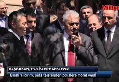 Başbakan, polislere telsizden seslendi