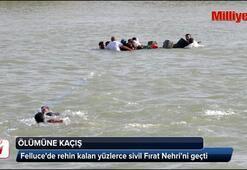 Felluceden kaçıp Fırat Nehrini böyle aştılar